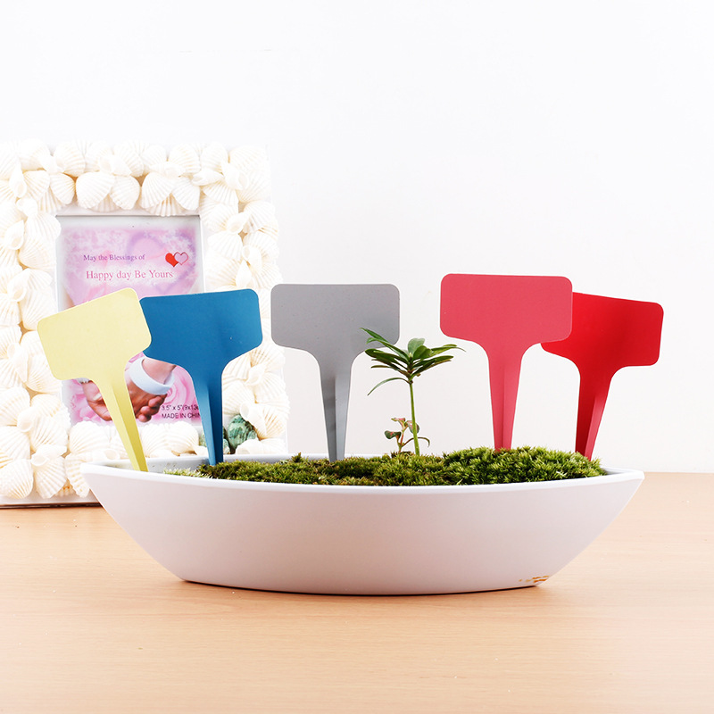 100 Pcs New Listing Gardening Label Nursery Bonsai Label Plastic Plant Type T Label Plant Pot Planter Vegetable Label Tag