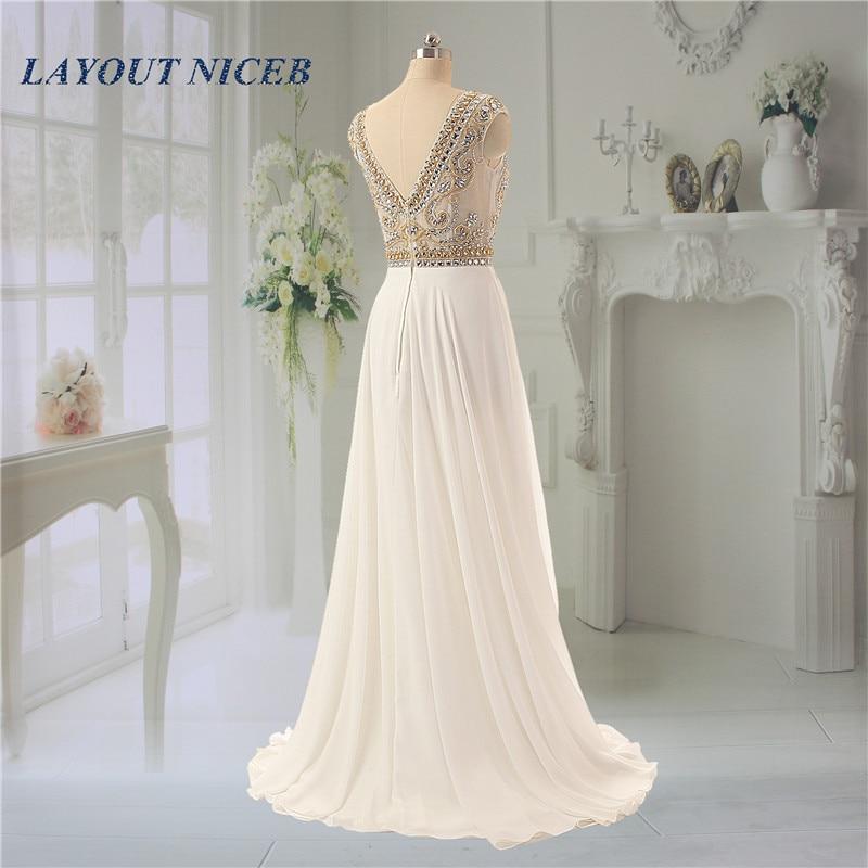 Sjajan vještački dijamant kuglice večernje haljine Scoop vratu - Haljina za posebne prigode - Foto 2