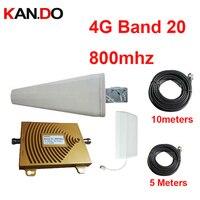 100% работы 4 г LTE 800 мГц усилитель сигнала w/кабель антенный 65dbi 791 821 и 832 862 FDD 4 г ретранслятора группы 20 телефон усилитель для евро