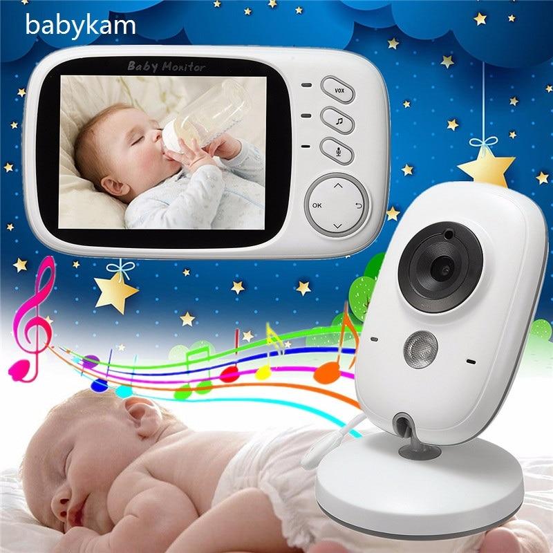 Babykam 3.2 inch baby monitor detector fetal IR Night vision Lullabies Temperature monitor 2 way Talk baba electronics doppler цена