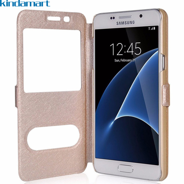 outlet store 538c4 50a65 US $2.72 9% OFF Flip case for Samsung galaxy j2 core case cover for Samsung  j2 2018 pro j250f window view phone case for Samsung j2 prime g532f-in ...