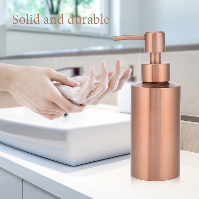 250/350/550 ml In Acciaio Inox In Oro Rosa Dispenser di Sapone Da Bagno Pompa A