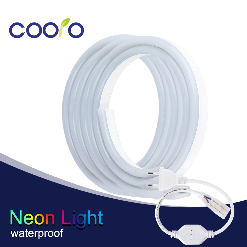 10m/lot Led Neon Strip 220v 120led/m 2835 Flexible Neon Tube Led Strip Ribbon Tape Outdoor Decoration Led Strip