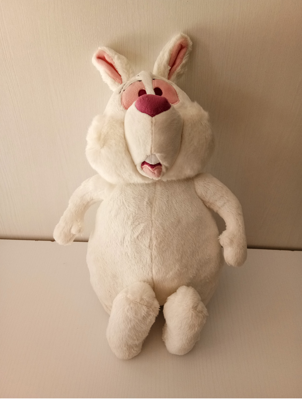 Rare Alice in Wonderland White Rabbit Plush Doll Toy 38cm Cute Bunny Stuffed Animals Baby Kids Toys Dolls for Children Gifts plush ocean creatures plush penguin doll cute stuffed sea simulative toys for soft baby kids birthdays gifts 32cm