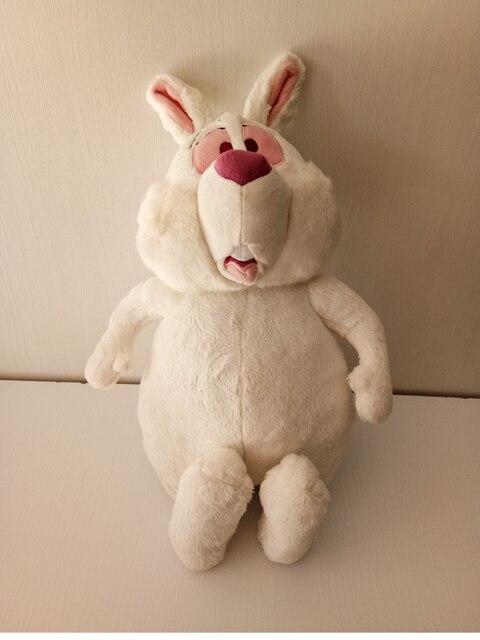 Rare Alice In Wonderland White Rabbit Plush Doll Toy 38cm Cute Bunny