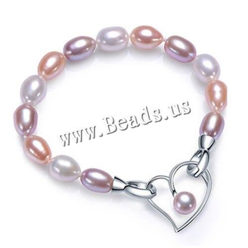 AAAA alta calidad pulsera de perlas para las mujeres 3 colores Verdadera Perla Natural de La Joyería de moda broche de oro blanco plateado 18 cm