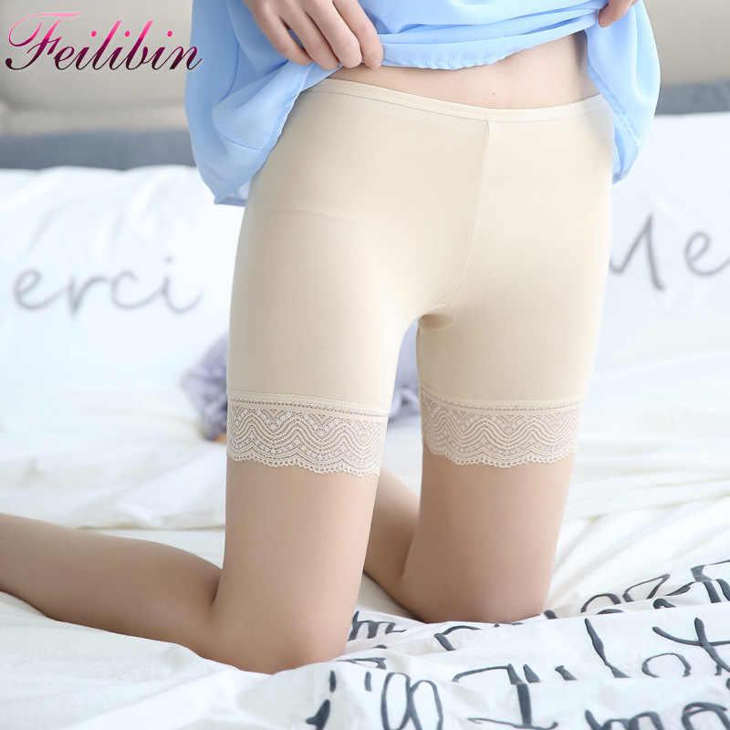 0a259a570f3 New Summer Women Safety Short Pants Lace Underwear Cottton Women Boxer  Briefs Boyshorts Sexy Women Underwear