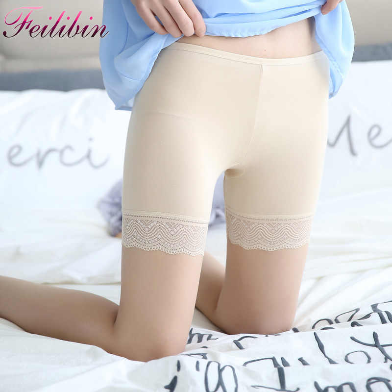 2c4ae9e44e19 New Summer Women Safety Short Pants Lace Underwear Cottton Women Boxer  Briefs Boyshorts Sexy Women Underwear