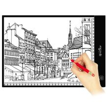 A4 LED lighted Drawing Board Ultra LIght Box Drawing Tablet Tracing Pad Sketch Book Blank Canvas For Painting Acrylic(China)