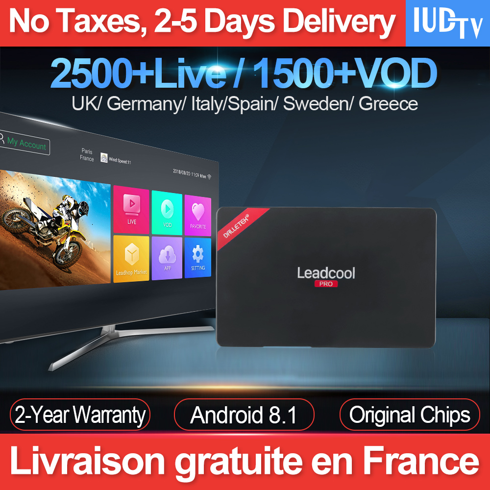 Leadcool Pro Android 8 1 TV Box Iptv France RK3229 With 1 Year IUDTV Iptv  Subscription UK Greece Arabic Spain Netherlands Sweden