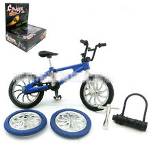 Kids mini BMX legering speelgoed Functionele Fiets Vinger Bike mini-vinger-bmx Set(China)