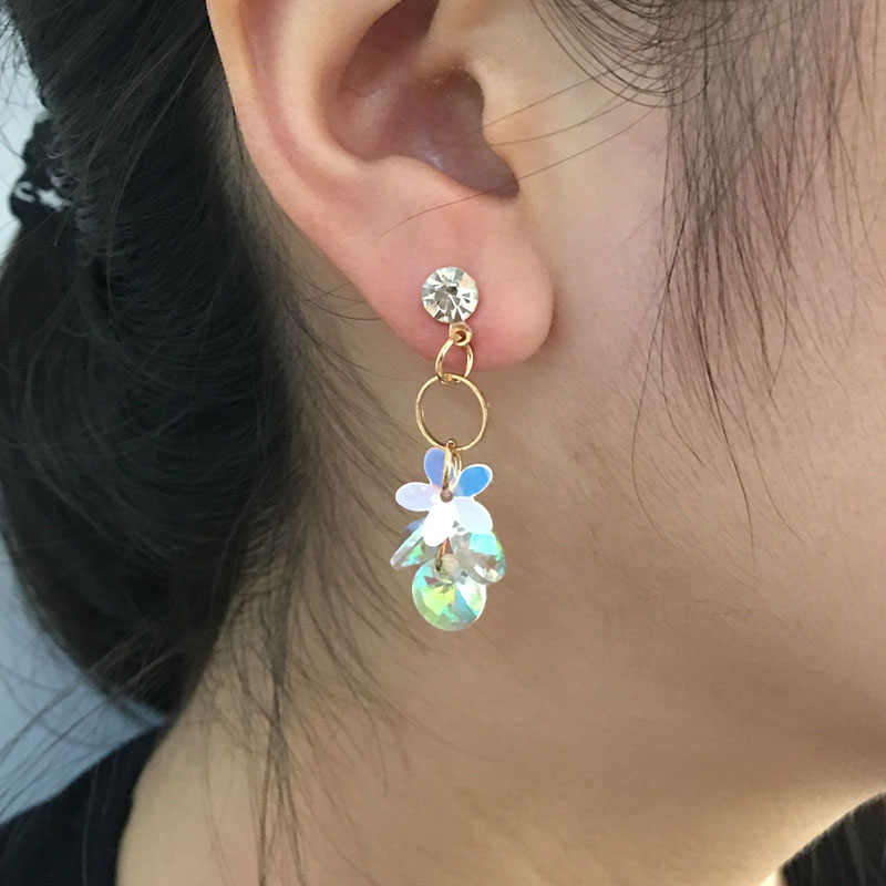 TDQUEEN AB Crystal Women Earrings Korean Style New Fashion Jewelry Earings Best Gift Party Zircon Pendant Statement Stud Earring