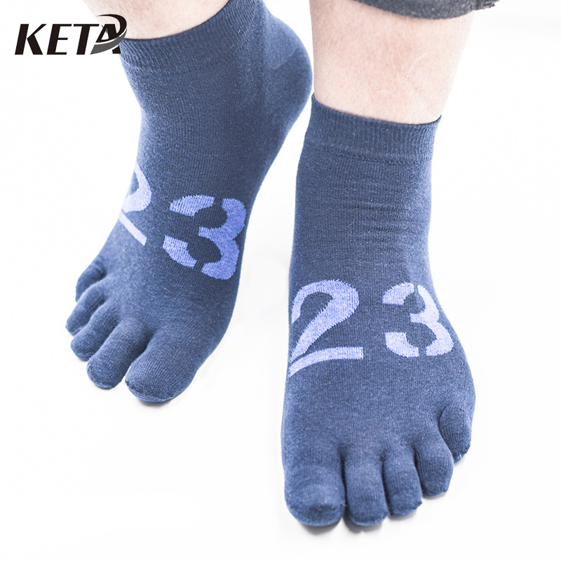 5Pair Men Short Brand Male Socks High Quality Cotton Five Finger Toe Socks Men Colorful Casual Male Dress Business Socks