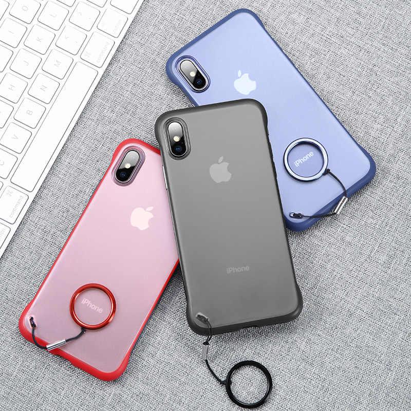 Msvii مارتن حقيبة لهاتف أي فون X XS ماكس XR شفافة كوكه ل فون 7 8 الوفير واقية غطاء مقوى قذيفة