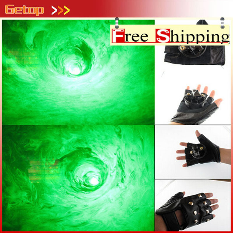 ZX 450nm Laser Whirlwind Laser Glove for Party Supplies Green Show LED Laser Gloves Laser Dance DJ Club with LED Light