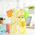 Baby Short Sleeve Cotton Jumpsuit Newborn Animal Barboteuse Baby Clothes Bodysuit Summer Costumes For Newborns Jumpsuit 607003