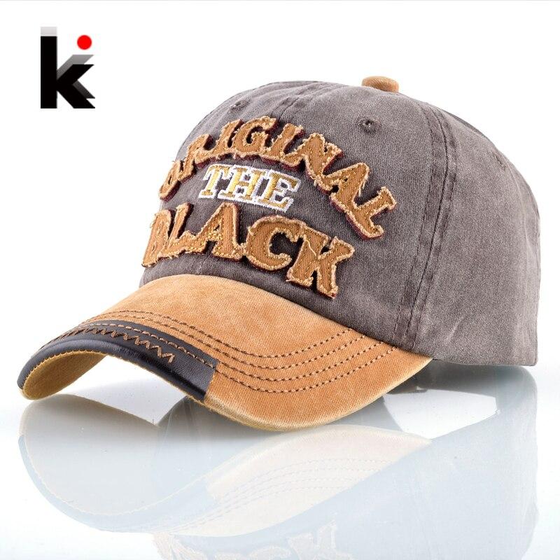 Washed Denim Baseball Cap Men Women 100% Cotton Snapback Dad Hats Letters Embroidery Hip Hop Bones Unisex K pop Casquette Homme
