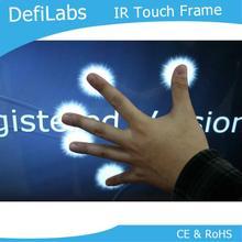 DefiLabs 55 дюймов 10 точек ИК интерактивный мульти сенсорный экран панель/рамка/Наложение