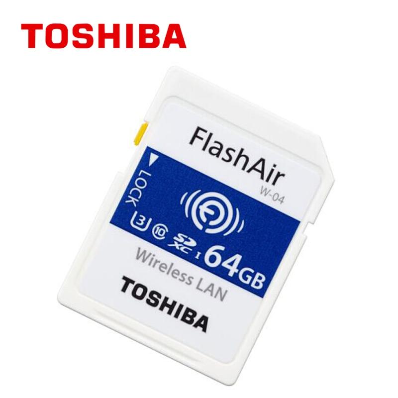 TOSHIBA W-04 carte mémoire sans fil LAN 64 GB 32 GB 16 GB wifi carte SD U3 UHS classe de vitesse 3 FlashAir carte mémoire SD sans fil