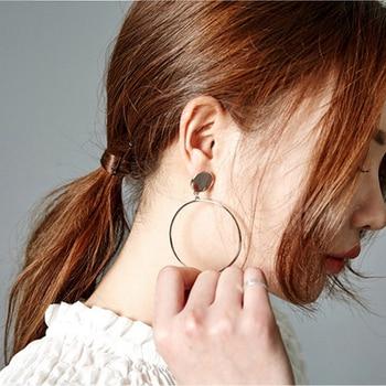 Western style Geometric exaggerated fashion hollow earrings female big circle Stud earring nickel-free circle