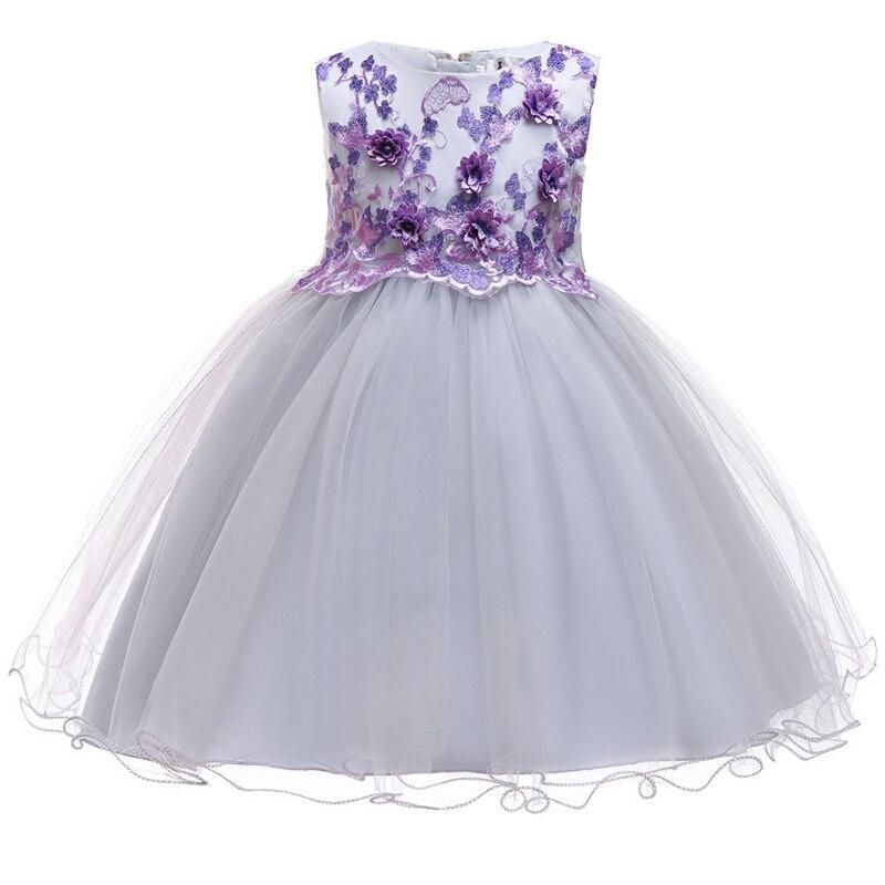 2-10 Knee-Length Kids Sequin   Flower     Girls     Dress   Kids   Girl     Dresses   for Birthday Party First Petal   Dresses   vestidos de fiesta