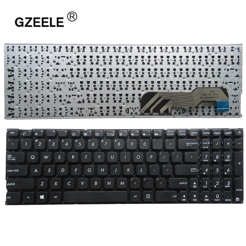 GZEELE New For ASUS X541N X541NA X541NC X541S X541SA X541SC X541 A541U A541 Keyboard US No Frame