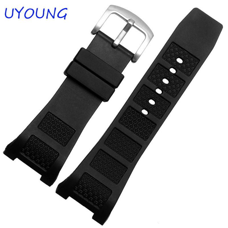 Quality Silicone Watchband 30*16mm Watch Accessories For Men Watch Strap For IW323601 IW376501 IW322503