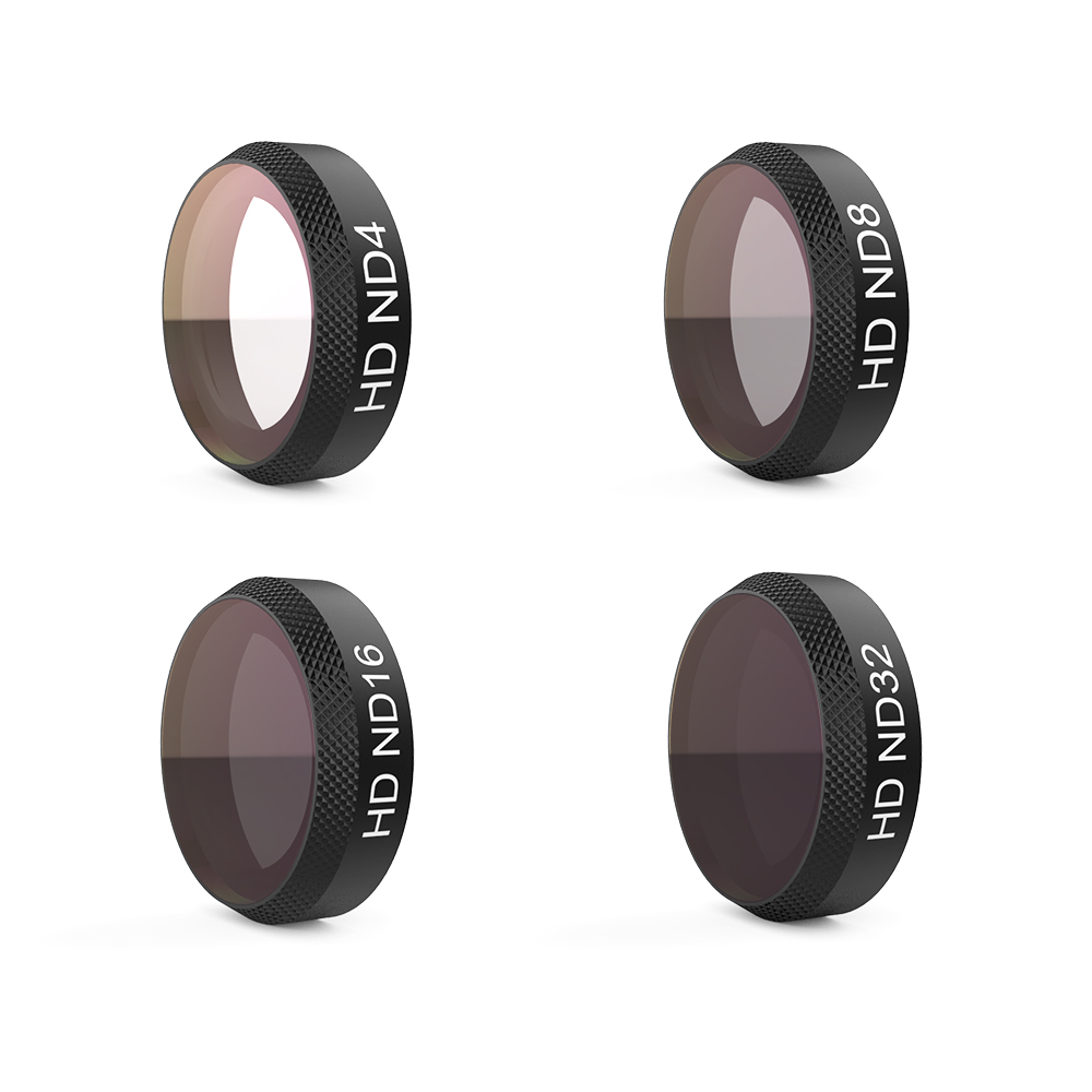 PGYTECH Mavic Air Filter 4Pcs ND4+ND8+ND16+ND32 Filter Kit Lens Filters for DJI Mavic Air RC Quadcopter Drone Accessories original dji mavic air nd filters set nd4 8 16 for mavic air camera drone filter 3pcs filter dji mavic air accessories