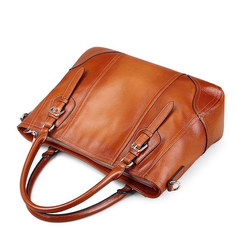 100% ehtne nahast naiste kott käekott 2018 mood retro loomanahk - Käekotid - Foto 3