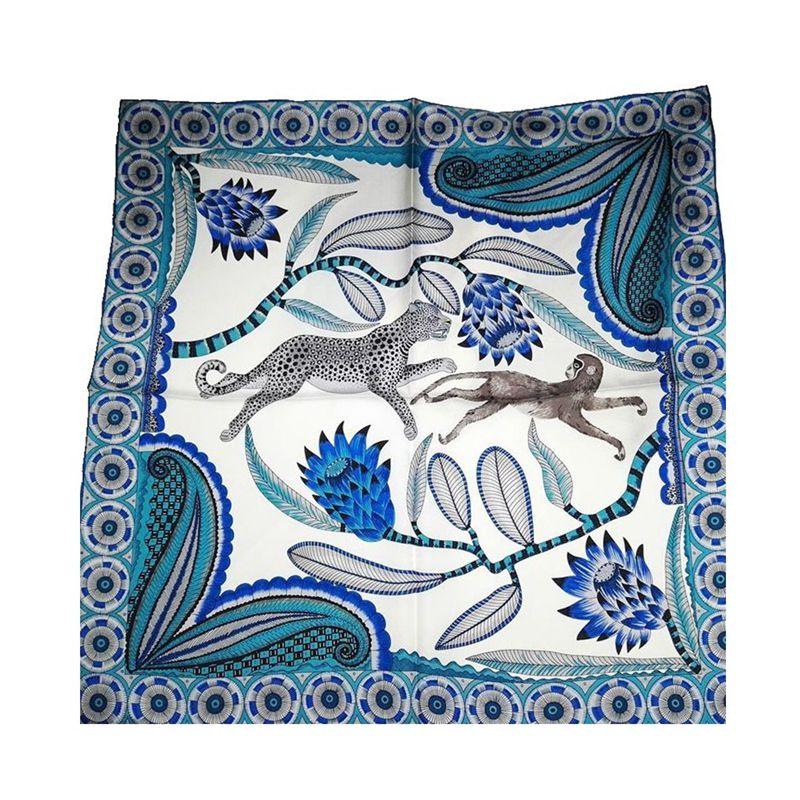 Fashion Printed Bandana Scarf Neckerchief Small Square Silk Scarf Women 100% Silk Twill Scarves & Wraps Foulard