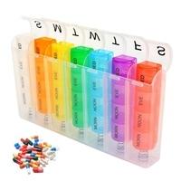 Еженедельный пружинный ящик для таблеток 7 дней диспенсер для таблеток Органайзер цветной разделитель таблеток 28 сеток разделитель для лек...
