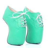 Пользовательские Пикантные женские туфли лодочки балетки туфли на высоком каблуке женщина queen Лакированная кожа на высоком каблуке необыч