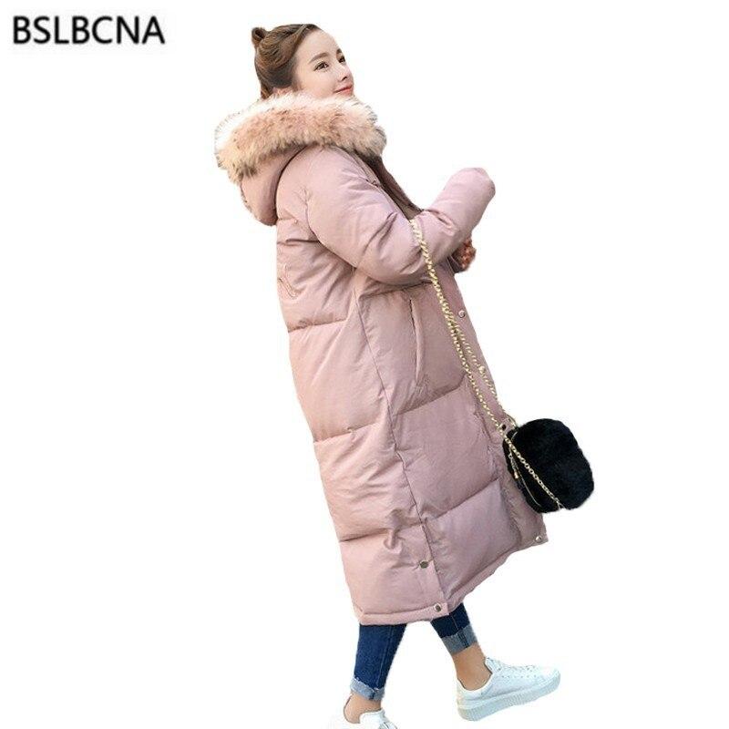 Vers Grand Manteau Plus Tops Femmes Hiver pink Black Taille Pain A546 Col Cheveux Épais Broderie Le Bas Parka Coton La 2018 Vêtements Rembourré Veste q0tUv