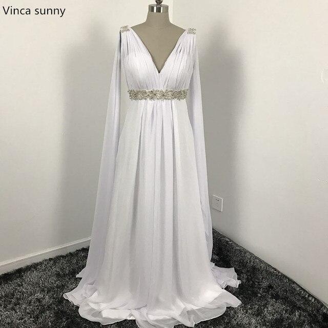 Griechischen Stil Brautkleider mit Watteau Zug 2017 V ausschnitt ...