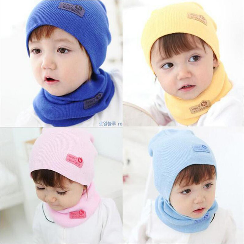 6 color New Spring Autumn Winter Baby Cap Crochet Baby Hat Girl Boy Cap Cotton Scarf Beanie Star child Knitted Toddlers kid Hats 1 piece winter autumn crochet baby hat girl cap unisex beanie star women cotton knitted hat 3 usages children scarf