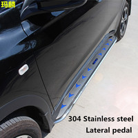 Car Silver Stainless Steel Three Colors Arrows Side Step Running Board Top Sale Side Foot Plate