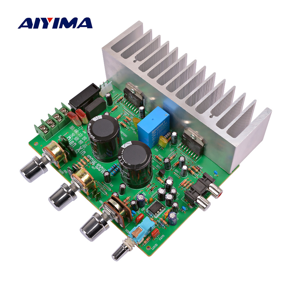AIYIMA TDA7294 Amplifier Audio Board AMP 100W*2 High Power 2.0 Channel Amplificador Sound Speaker Home Audio Diy