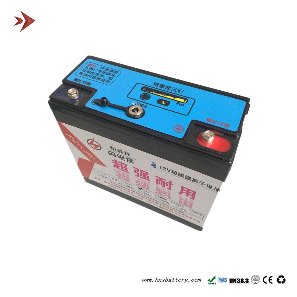 Paquet de batterie au Lithium-ion de 12 V 30AH avec le Cycle profond de BMS 30A pour le filet électrique léger de Camping d'alimentation d'énergie extérieure