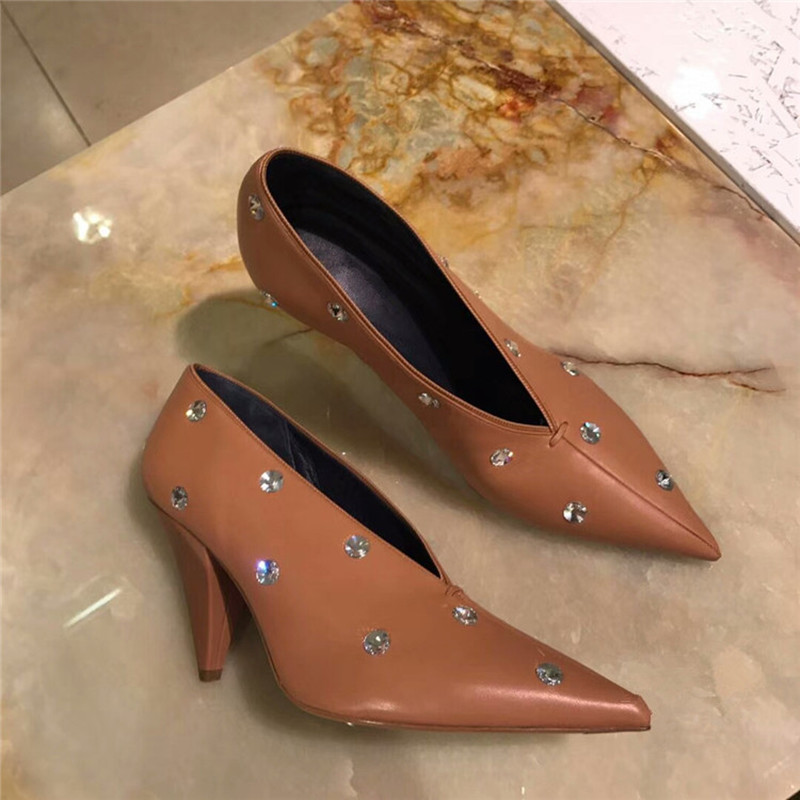 Pointu As Parti Mujer Pic Pic De Femme Chaussures as Designers Talons Zapatos Pompes Luxe Cuir Chaude Robe Femmes En Hauts Bout Fqfgw
