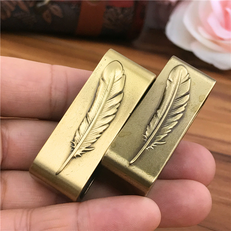Solid Brass Belt Buckle Loop For Men Belt Luxury DIY Leather Craft Hardware Metal Accessories For Leather Belt Men BL0001