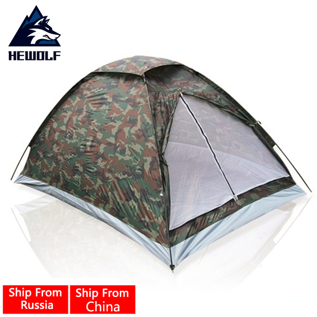 Hewolf Single Layer 2 People Waterproof Camouflage C&ing Hiking Tent Lightweight Travel Fishing Tent  sc 1 st  AliExpress.com & Hewolf Single Layer 2 People Waterproof Camouflage Camping Hiking ...
