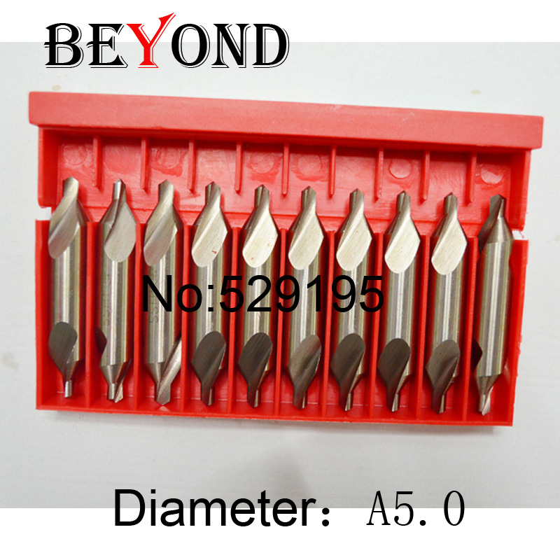 A5.0 Brand New 10 A-type Centre Drill Holder Countersinks Bit Set Pilot Drill Bit Boring Bar Guaranteed 100%