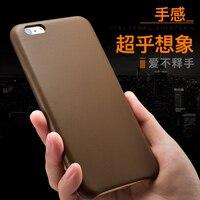 Voor iphone 6s plus 5.5 ''originele icarer xoomz merk real geitshuid skin back case telefoon cover voor iphone6 plus lamsvacht lederen