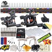 Complete Tattoo Kit 2 Machine Gun 20 Color Inks Power Supply