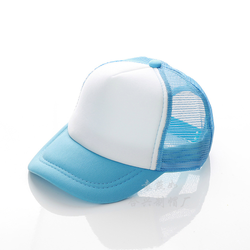 16 Colors Childrens Summer Mesh Baseball Cap Custom Printed Logo Beach Hat  Travel Sunhat for Boys ... fbe2f241f58b