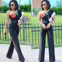b3bf66a11a25 NEW Women Ladies Clubwear Summer Off One Shoulder Floral Rose Playsuit  Bodycon Party Jumpsuit Romper Trousers