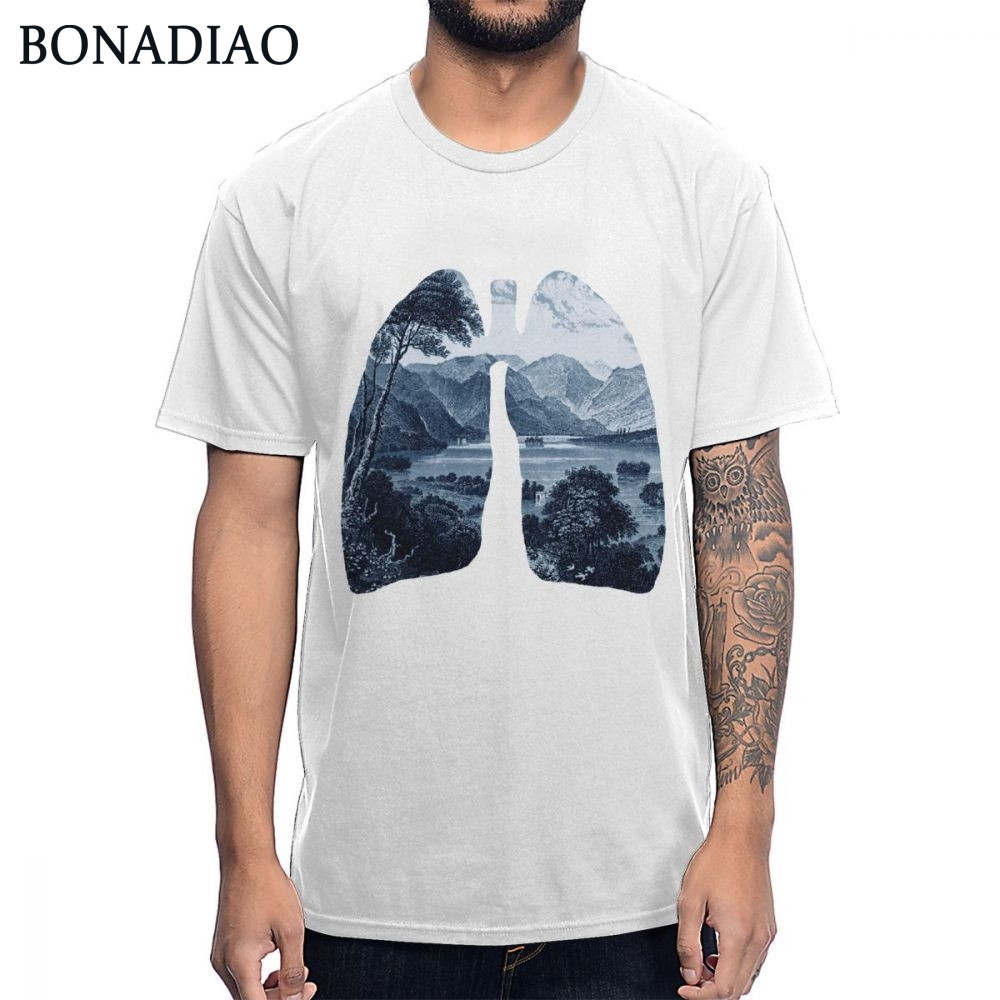 2019 New Arrival Fresh Forest Lung Ecology Environment T Shirt Unisex 100% Cotton Fashion Design Tee Shirt