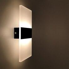 Светодиодный настенный светильник 220 В 110 В, прикроватный светильник для спальни, гостиной, балкона, прохода, настенный светильник, настенное бра для коридора, лампа