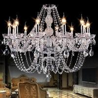 Luxury modern led crystal chandeliers Bedroom K9 Crystal ceiling lustres de cristal Home decoration pendientes silver/gold color