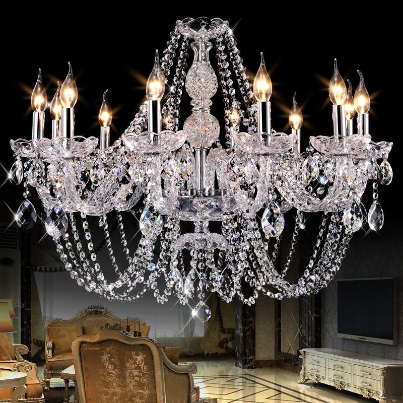 Luxury modern led crystal chandeliers Bedroom K9 Crystal ceiling lustres de cristal Home decoration pendientes silver/gold color modern new k9 modern crystal lustres de cristal decoration chandeliers and pendants silver gold 6 8 15 18 arms for living room